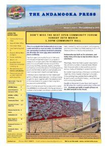 Andamooka Press Vol 7 Issue 3 Mar 2017