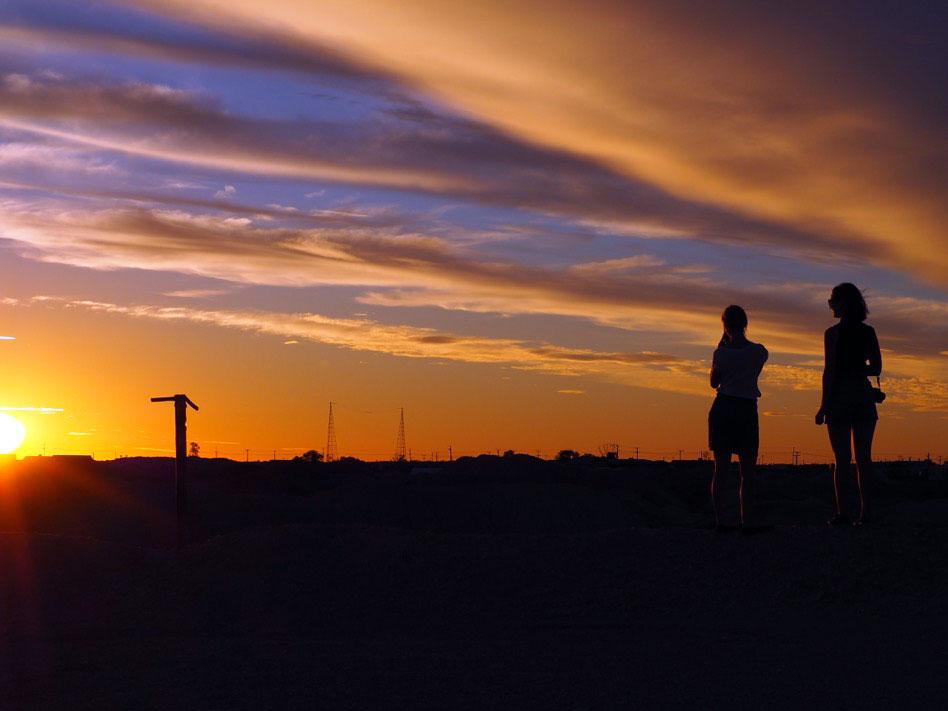 Sunset at Andamooka
